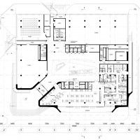 Dominion Office Building, Ground Floor Plan, Courtesy of  Zaha Hadid Architects