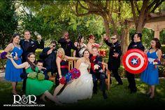 Superhero wedding  DOING THIS! Only my hero will be batman ;)