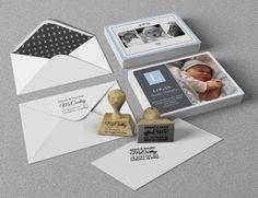 #baby #announcement #babyannoucement #babycard #babypostcard #stamp #customstamp #custom #design #print northeastink.com