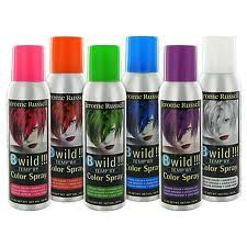 #2: Temporary coloring hair spray - 2000's Colorful hair sprays were popularized by their quick results.