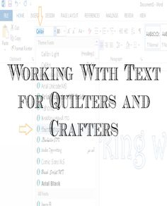 The following tutorial will show how I use Microsoft Word to make patterns for words and text...