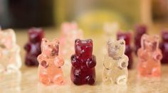 Learn how to make wine gummy bears. Recipe for red wine, white wine, and rosé…