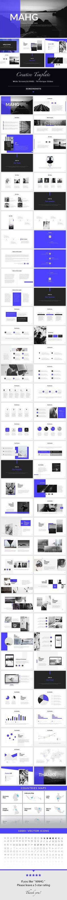 MAHG - PowerPoint Presentation Template - 76+ Unique Slides
