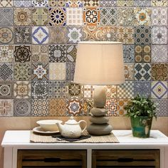 Provence rustic tiles are beautiful country tiles which can be used as either wall or floor tiles. These decor tiles have been designed to co-ordinate with either the grey or terracotta tiles to create individual tile designs.