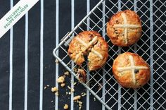 Read the history of an iconic Yorkshire bun, and have a try at Bee's very special Easter recipe for hot-cross fat rascals. Spring Recipes, Easter Recipes, Easter Food, Scone Mix, Easy Banana Bread, British Baking, Hot Cross Buns, Just Bake, Dessert Spoons
