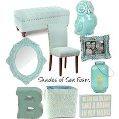 Sea Foam is all the rage right now! #kirklands #polyvore