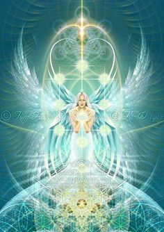 Kim Dreyer Art - fantasy and visionary art prints Angels Among Us, Angels And Demons, I Believe In Angels, Ascended Masters, Spirited Art, Archangel Michael, Metatron Archangel, Angel Pictures, Mystique