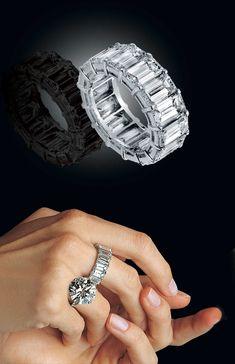 Danelian, Greece. Emerald cut diamond eternity ring