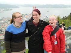 Selfies above Bergen