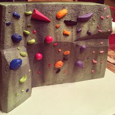 It's a cake. Rock climbing party theme.