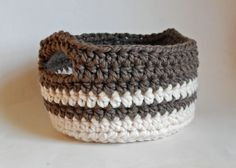 Plarn Another basket to try to make.  Wishing it was winter.