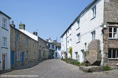 Cobbled street, Dent in the Yorkshire Dales National Park, Cumbria, England. We stayed in the white cottage just in shot on the left, fab!