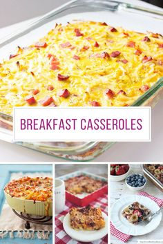 You HAVE to see these Make Ahead breakfast casseroles - they are PERFECT for feeding a crowd! Try them at Easter, or Mother's Day or even Christmas!