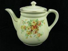 Vintage Hall Pottery China Teapot Coffee Pot