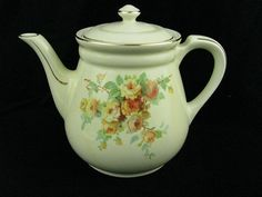 Vintage Hall Pottery China Teapot Coffee Pot