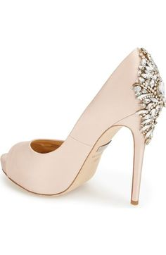 Gorgeous crystal detailing on these pumps