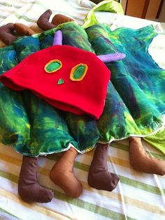 Eric Carle Very Hungry Caterpillar Halloween Costume Idea (for school)