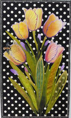 "Tulips 36x22"" by Betty Busby"