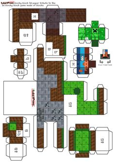 Minecraft papercraft - thanks to jonathan....