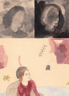 aidan koch: Part III begins Illustration Story, Graphic Illustration, Painting Inspiration, Art Inspo, Illumination Art, Art And Craft Design, Aidan Koch, Collage, Painting Prints