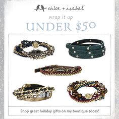 Shop my boutique for wrap bracelets perfect for holiday gifts, all under $50! We have jewelry for every style and price point! www.candibykristin.com