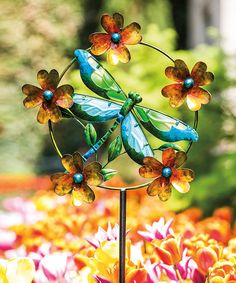 Look what I found on #zulily! Delightful Dragonfly Kinetic Garden Stake #zulilyfinds