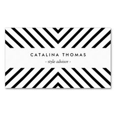 An optical black and white pattern creates visual interest as a background on this modern business card template. © 1201AM CREATIVE