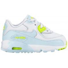 48ffc47b7e nike air max 90-girls' toddler-running-shoes-white/glacier