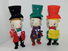 Vintage Christmas 3 Large 50s 60s Holiday Dickens by CharmedKitty, $36.95