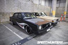 Gnarly Matte, Rusted Hood, Bomber Custom Volvo