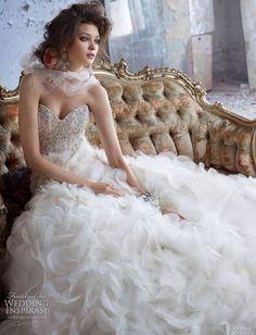 soft and luscious wedding dress...