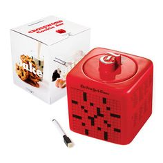 Crossword Puzzle Cookie Jar Red now featured on Fab.