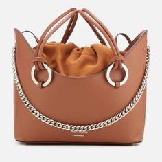 meli melo Women's Ornella Drawstring Tote Bag Almond Daisy Leather