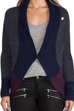 G-Star Scene Shrug Knit Sweater en Bleu Impérial   REVOLVE