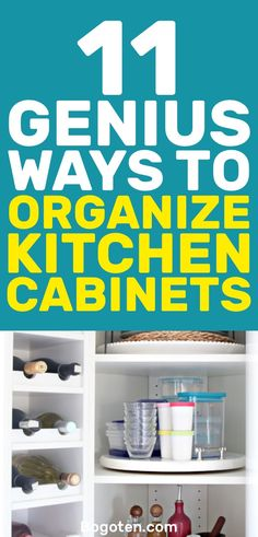 Organizing your kitchen cabinets might seem like an impossible task but it really isn't. Check out these kitchen cabinet organization ideas to get things in order.