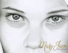 'Hope' - Close up of a Colored Pencil Drawing by MaryJane Sky of www.maryjanefineart.com