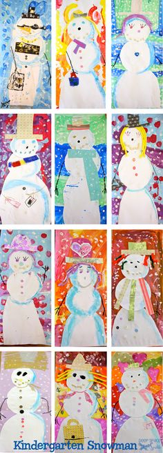 If I had to choose my favorite snowman art lesson, it would be this one. The combination of skills: tracing, cutting, shading, drawing, pasting, composition, and painting checks off all of the standards but it was self-expression that really dialed this lesson up.  I love seeing children engaged in art projects. You know the look; …