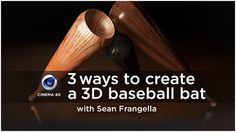 Model and Texure a 3D baseball bat 3 different ways in Cinema 4D - Free C4D Tutorial on Vimeo