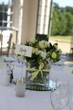 Yellow and cream table designs by www.wildorchidweddingflowers.co.uk  Becky Kerr Photography http://www.beckerphotography.co.uk/