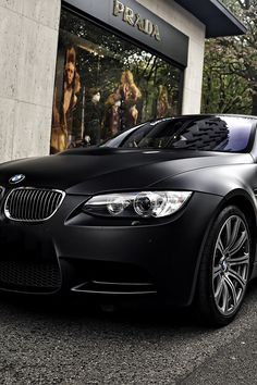 The BMW looks absolutely diabolic in matte black.