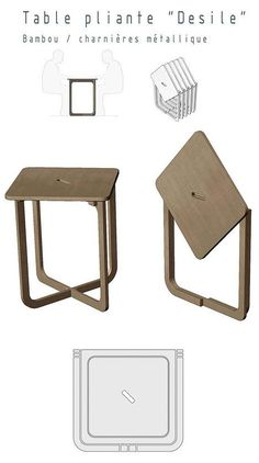 The chair's cousin, the Desile table, folds flat and can be cut from a single piece