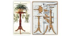 Wood Plant Stand Plans - Furniture Plans and Projects | WoodArchivist.com