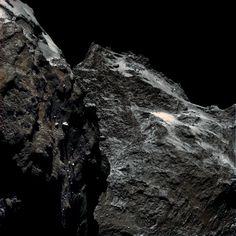 62 Kilometers above Comet Churyumov-Gerasimenko --- Sep. 15 --- Image Credit: ESA / Rosetta / MPS for OSIRIS Team; MPS/UPD/LAM/IAA/SSO/INTA/UPM/DASP/IDA  Additional Processing & Copyright: Elisabetta Bonora & Marco Faccin (Alive Universe Images)