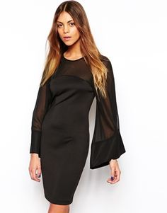 TFNC+Carina+Dress+with+Sheer+Kimono+Sleeves