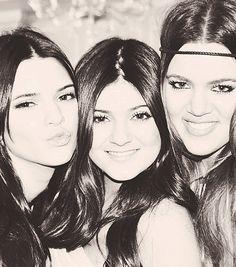 Khloe, Kylie and Kendall. #Kardashian #Jenner #Family