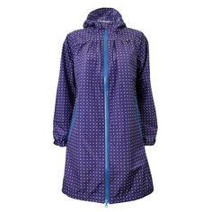 Danefæ regnfrakke, Helen Regnfrakke, Purple/White Minidot  #superlove #regnfrakke