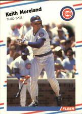 1988 Fleer Glossy Chicago Cubs Baseball Card #425 Keith Moreland