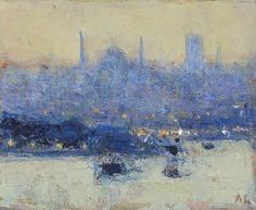 Andrew Gifford - The Blue Mosque and Hagia Sophia at Dusk (study)