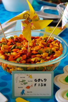 One Fish, Two Fish, Red Fish, Gold Fish! Dr Seuss Birthday Party, Birthday Parties, O Fish Ally, Two Fish, Sponge Bob, Bar Mitzvah, Luau, Teacher Stuff, Baby Boys