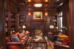 Always thought I'd like an old fashioned paneled library to hunker down in!